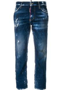 Dsquared2 Calça Jeans Destroyed 'Hockney' - Azul