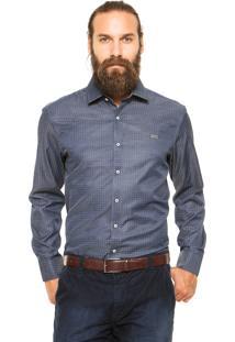 Camisa Mr Kitsch Botões Azul-Marinho