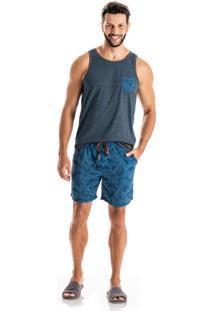 Pijama Eduardo Regata C/ Bolso Azul/Gg
