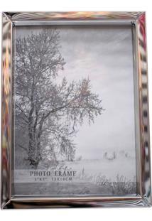 Porta Retrato Minas De Presentes Alumínio 1 Foto 13X18Cm Prata