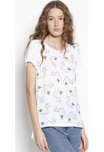 Camiseta Unicórnio- Branca & Verdeangel