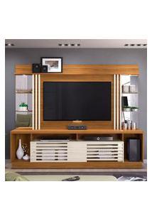 Estante Home Theater Frizz Gold Tv Até 55 Polegadas Naturale E Off White Madetec