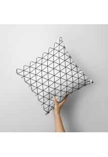 Capa De Almofada Avulsa Decorativa Full Geométrico 35X35Cm