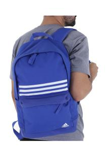 Mochila Adidas Classic 3S - Azul/Branco