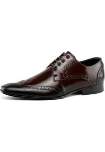 Sapato Social Bigioni Oxford Recortes Marrom