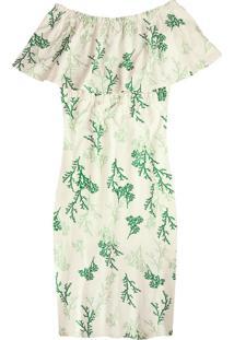 Vestido Bege Ciganinha Mídi Sustentável