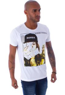 Camiseta Bossa Decote Canoa Ostentation Branca