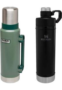Garrafa Térmica 1,3L Hammertone Green + Stanley 750Ml Hydration