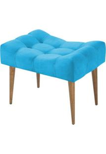 Puff Requinte Suede Lymdecor Azul