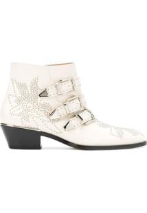 Chloé Ankle Boot Susanna - Branco