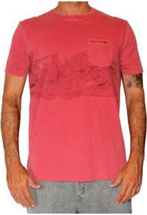 Camiseta Mormaii Psyco Stripe Masculino - Masculino-Vermelho