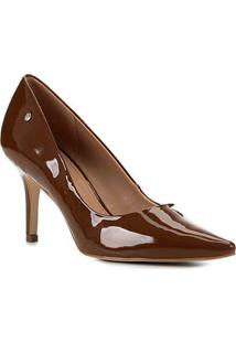 Scarpin Shoestock Salto Médio Naked - Feminino-Avelã