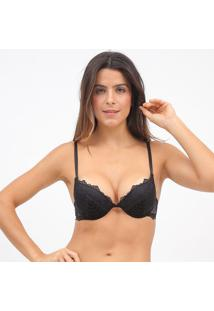 Soutien Push Up Com Tiras- Preto- Hopehope