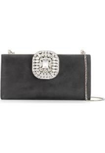 Jimmy Choo Leonis Clutch - Cinza