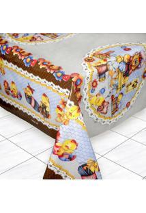 Toalha De Mesa Tã©Rmica Impermeã¡Vel 1,50X1,40 Galinha Costureira - Multicolorido - Dafiti