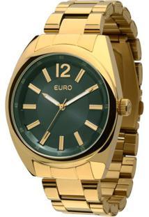 17f91ab92ff Camisaria Colombo. Relógio Aço Feminino Colombo Verde U2 Fashion Carcóvia -  Eu2036aiw 4v Euro