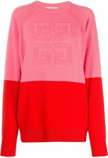 Givenchy Suéter De Tricô Bicolor - Rosa