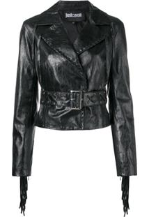 Just Cavalli Jaqueta Cropped - Preto