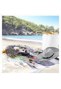 Toalha De Praia / Banho Face Color Único