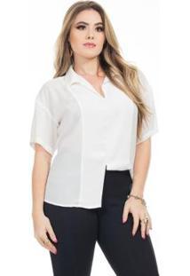 Blusa Clara Arruda Minimalista 20582 Feminina - Feminino-Off White