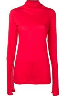 Unravel Project Suéter Com Fenda - Vermelho