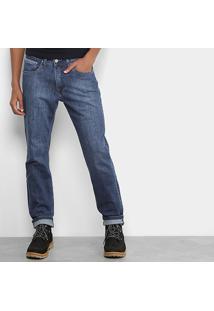 Calça Jeans Slim Replay Estonada Masculina - Masculino-Jeans
