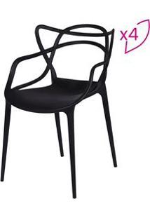 Or Design Jogo De Cadeiras De Jantar Solna Preto 4Pã§S