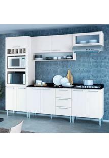 Cozinha Stella 0420T 10 Portas C/ Tampo – Genialflex - Branco
