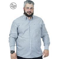 ca3977b64f Camisa Plus Size Bigshirts Manga Longa Listra