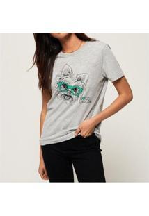T-Shirt My Yorkie Buddies Feminina - Feminino-Mescla