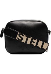 Stella Mccartney Bolsa Mini Com Logo - Preto