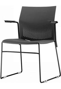 Cadeira Connect Com Braco Base Fixa Preta - 53772 Sun House