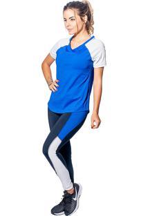 Blusa Energyfit Dryfit Azul