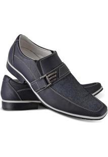 Sapato Social Vicerinne Com Fivela Masculino - Masculino-Marinho