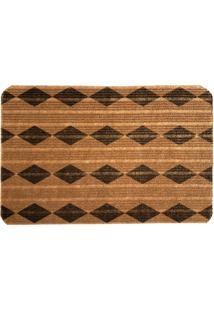 Capacho Carpet Triangulos Marrom Único Love Decor