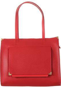 Bolsa Fedra F5535 Vermelho - Vermelho - Feminino - Dafiti