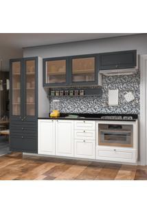 Cozinha Completa 11 Peã§As Americana Multimã³Veis 5662Smf Branco/Grafite - Branco/Incolor - Dafiti