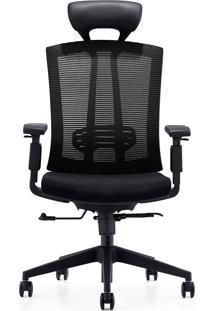 Cadeira Office Presidente Mko-022-Marka Móveis - Preto