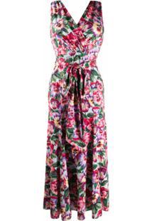 Dolce & Gabbana Vestido Com Estampa Floral E Amarração Na Cintura - Rosa