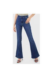 Calça Jeans Dzarm Flare Casual Azul