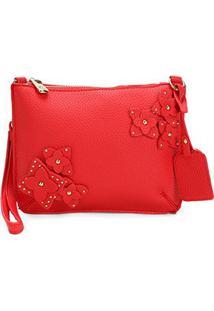 Bolsa Shoestock Mini Bag Transversal Mila Feminina - Feminino-Vermelho