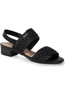 Sandália Salto Feminina Conforto Modare Textura Pr