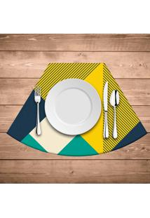 Jogo Americano Para Mesa Redonda Wevans Abstract Yellow