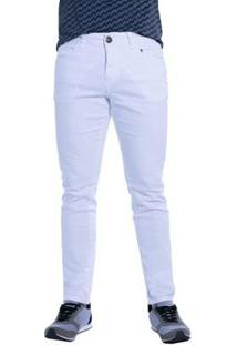 Calça Jeans Denuncia Skinny Masculina - Masculino-Branco