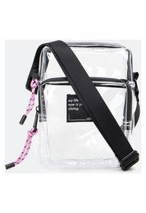 Bolsa Pequena Transversal Transparente | Satinato | Branco | U