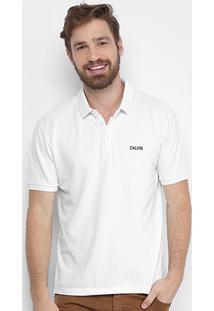 Camisa Polo Calvin Klein Piquet Masculina - Masculino