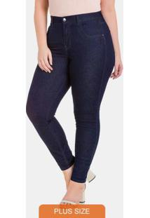 Calca Chapa Barriga Skinny Jeans Escuro
