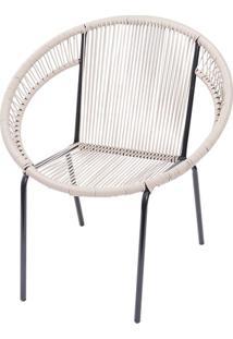 Cadeira Em Aço E Pvc Cancun Fendi