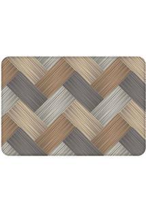 Tapete Geometric Wooden Modern- Marrom & Bege- 125X9Wevans