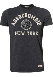 Camiseta Abercrombie And Fitch New York Chumbo